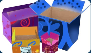 Colourful boxes