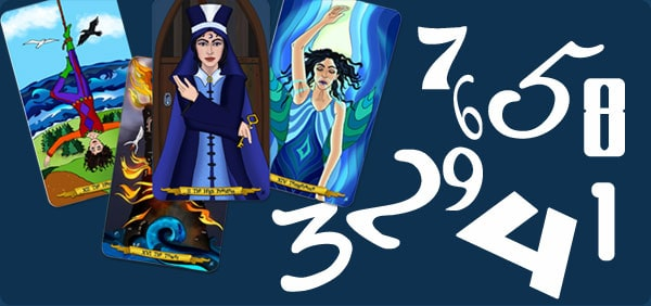Tarot illustrated by Annette Abolins and Numerology