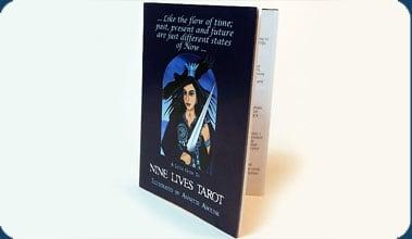 Nine Lives Tarot Guide booklet