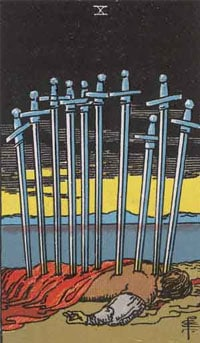 10 of Swords - Rider Waite Smith