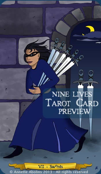 7 Swords - Nine Lives Tarot