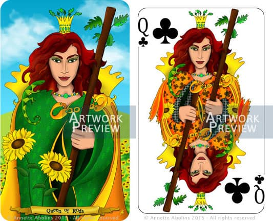 from tarot to playing card illustration