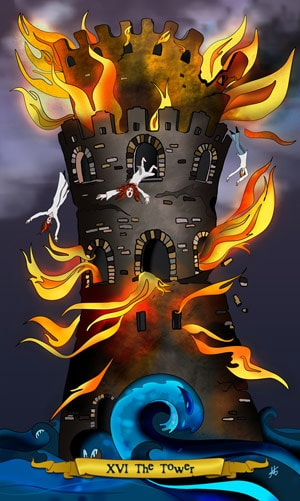 The Tower - Nine Lives Tarot