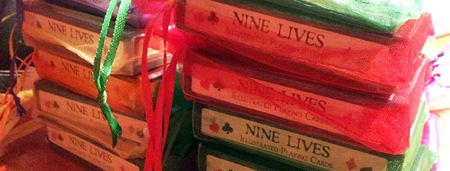 Nine Lives Playing Cards ready to ship