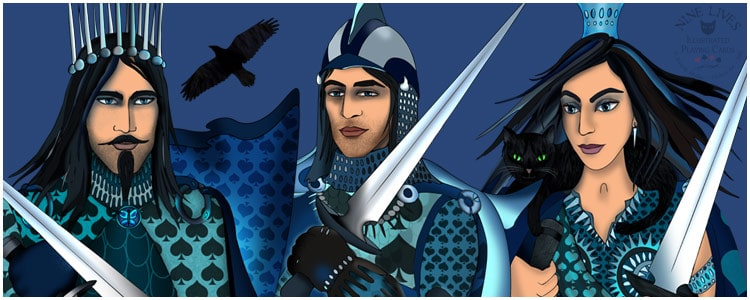 Royal spades - dressed in blue