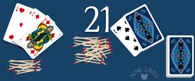 21 card game