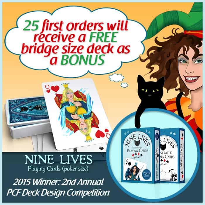 25 first orders receive bonus bridge size deck
