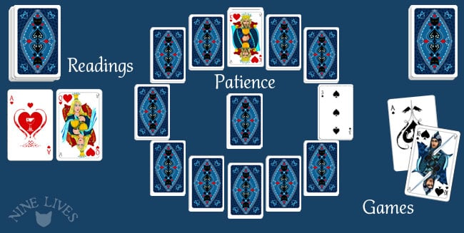 Playing Cards - reading - patience and games
