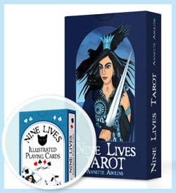 Free deck of Playing Cards with Nine Lives Tarot