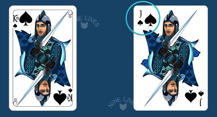 Knights vs Jacks - Nine Lives Playing Cards