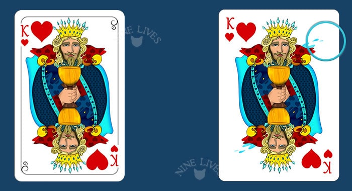 Comparing editions - Nine Lives King of Hearts