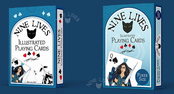 Tuckbox 1st & 2nd edition Nine Lives Playing Cards