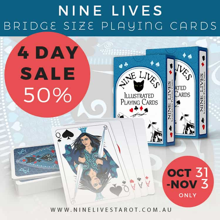 4 day sale - Nine Lives Playing Cards (bridge)