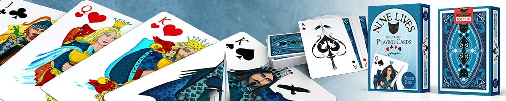 Nine Lives Playing Cards - poker size cards illustrated by Annette Abolins