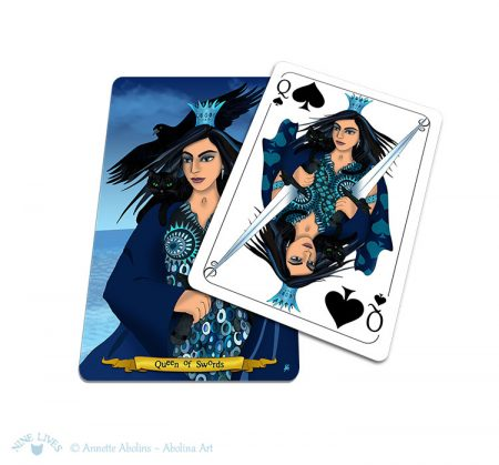 Transition from tarot - Queen of Swords and Spades