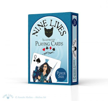 Nine Lives Playing Cards - by Annette Abolins