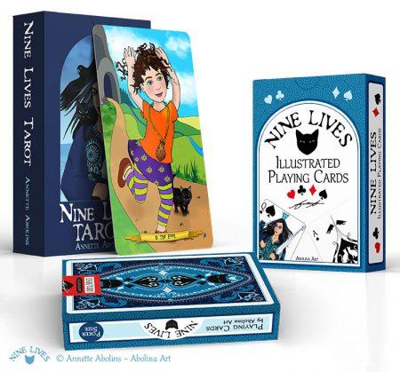 Buy all 3 Nine Lives Decks: Tarot & Playing Cards
