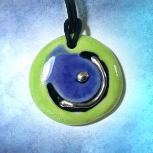 lime blue and silver design