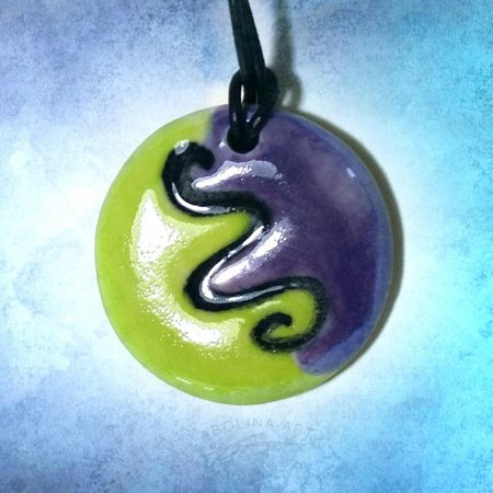 lime and purple design