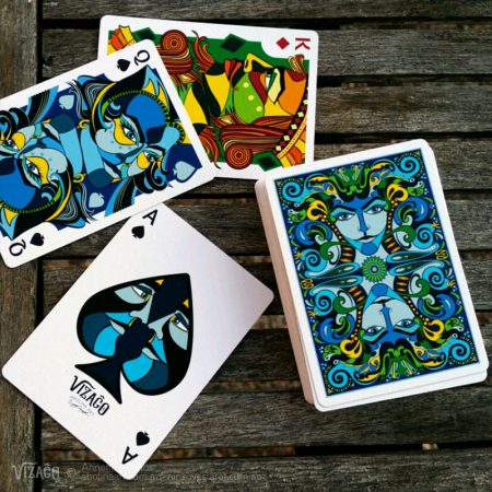 Lumino card back and face cards