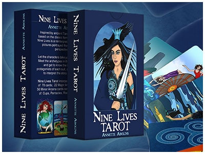 Nine Lives Tarot and Playing Cards by Abolina Art