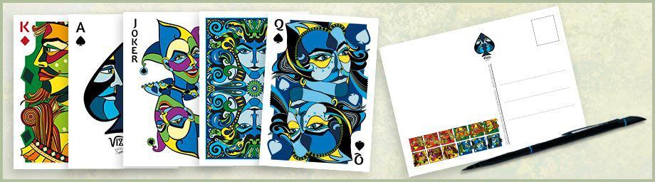 20 pack postcards with VIZAĜO artwork
