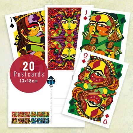 20 card prints from VIZAĜO by Abolina Art