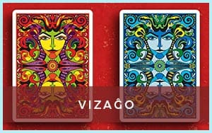 VIZAĜO Playing Cards - blue and red back