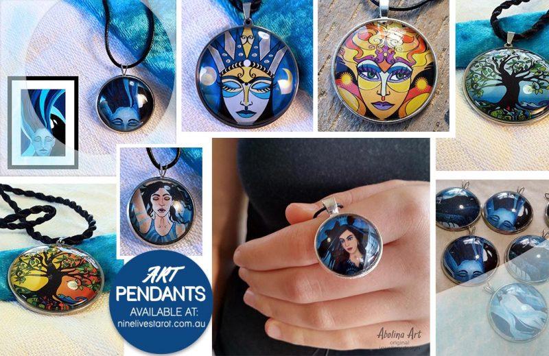 Introducing art pendants by Abolina Art