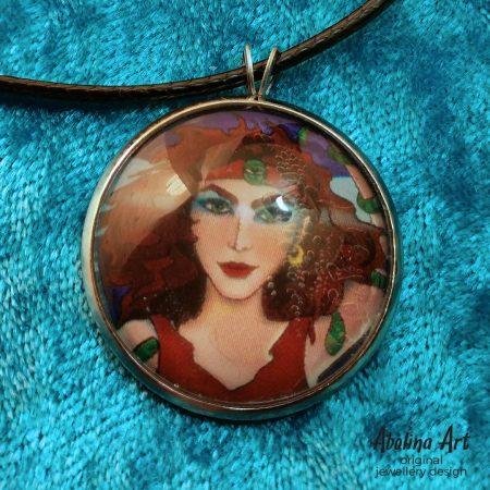 Close-up image of Magician art pendant