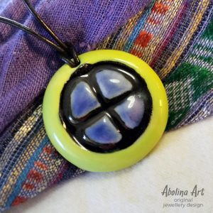 Sun Wheel Pendant by Abolina Art